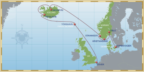 11 Night North Norwegian Fjords And Iceland Cruise On Disney Magic Itinerary A