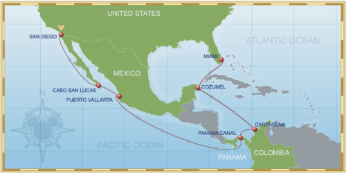 14 Night Westbound Panama Canal Cruise On Disney Wonder Itinerary A 2015