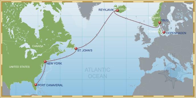 15 Night Eastbound Transatlantic Cruise On Disney Magic Itinerary A