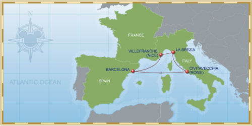 5 Night Mediterranean Cruise On Disney Magic Itinerary A