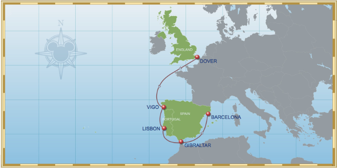 7 Night Dover To Barcelona Cruise On Disney Magic 2015