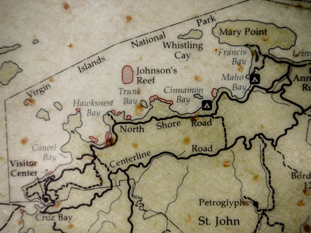 Virgin Islands National Park Map Cinnamon Bay