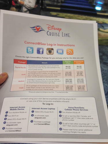 Connect@Sea Infosheet Data Plans Live On The Disney Fantasy