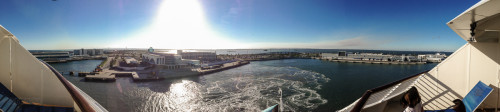Leaving Port Canaveral Panorama