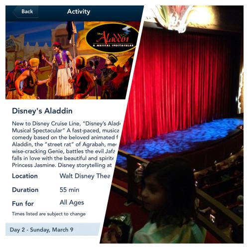 Walt Disney Theatre Aladdin Matinee
