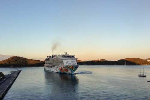 Followed By The Norwegian Getaway Into St Thomas