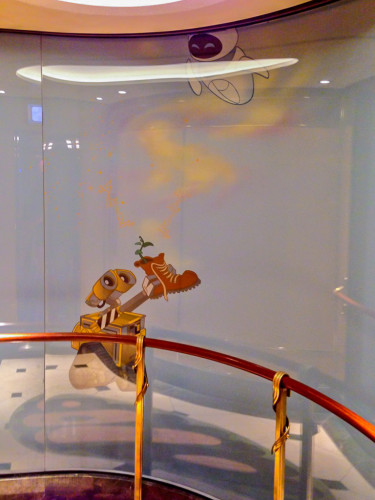 Wall E & Eve Deck 1 Elevator Shaft Disney Fantasy