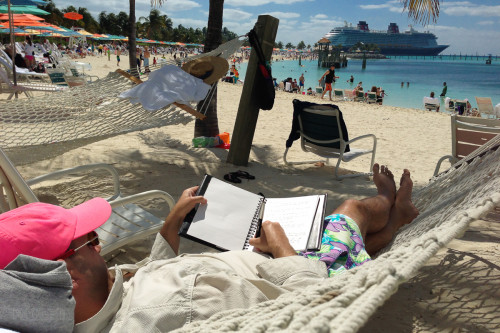 Taking Notes In The Hammock At Castaway Cay
