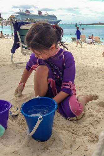 Playing In The Sand At Castaway Cay