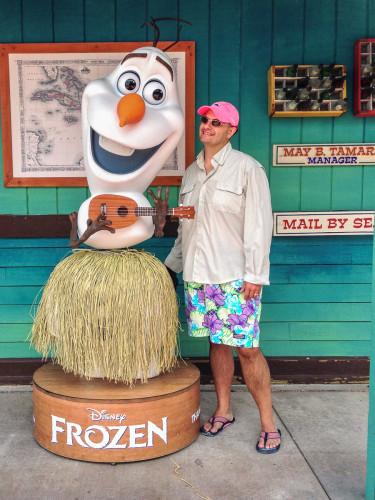 Frozen's Olaf On Castaway Cay
