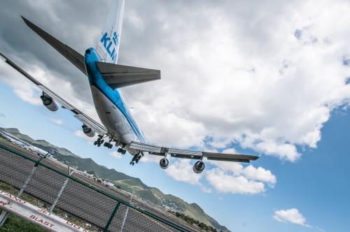 KLM Arriving In SXM