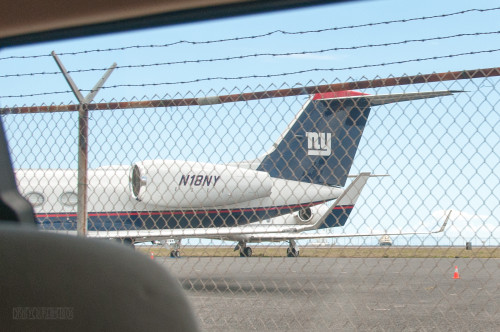 NFL New York Giants Plane St Maarten