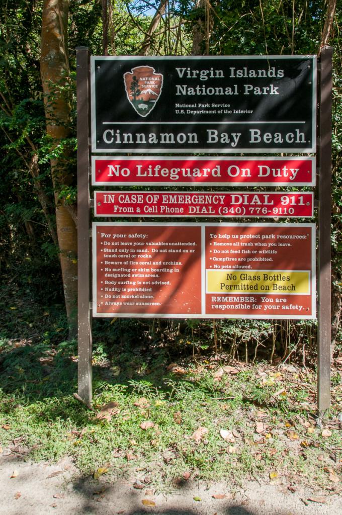 Cinnamon Bay Beach Virgin Islands National Park