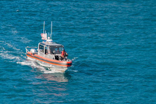 US Coast Guard Escort St Thomas