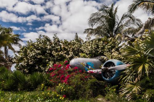 Stranded Castaway Air Plane