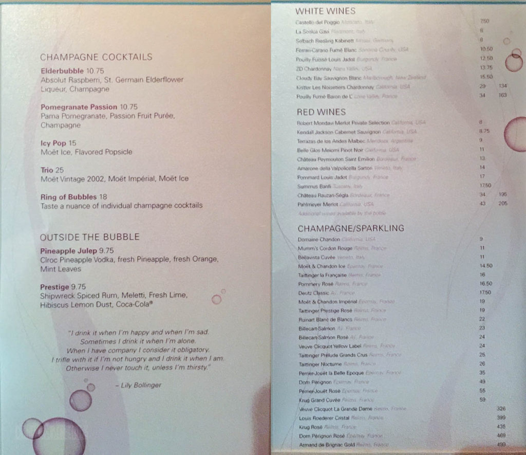 Ooh La La Drink Menu Fantasy June 2016