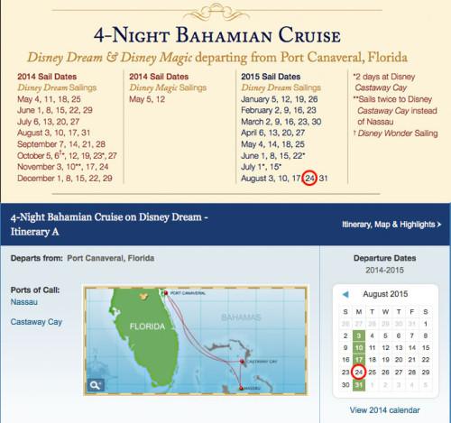 Potential 2015 DVC Member Cruise