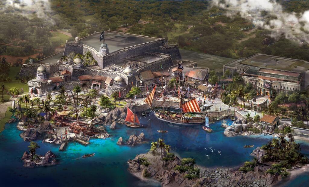 Shanghai Disney Resort Pirates Cove Concept Rendering