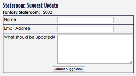 DCL Blog Stateroom Suggest Update
