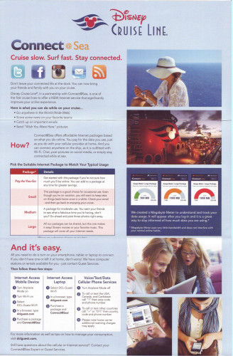 DCL Connect At Sea Brochure Page 1 2014
