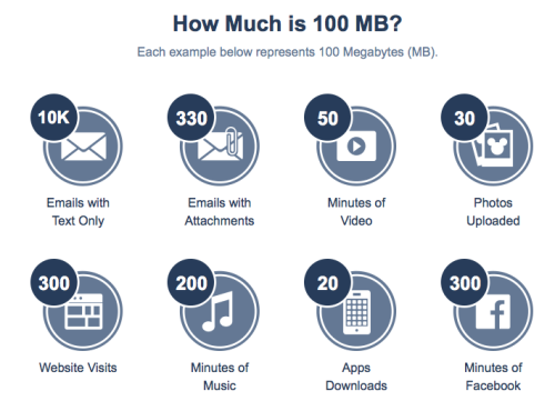 DCL Connect At Sea How Much Is 100MB Infographic