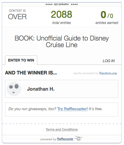 Rafflecopter Unofficial Guide Giveaway Winner 2014