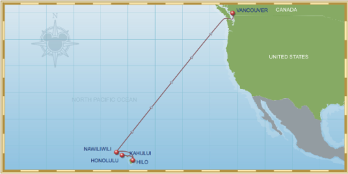 10 Night Hawaiian Cruise On Disney Wonder Itinerary B