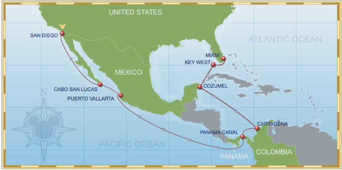 15 Night Westbound Panama Canal Cruise On Disney Wonder 2014