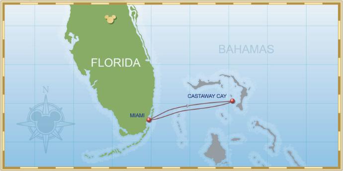 3 Night Bahamian Cruise On Disney Magic Itinerary E