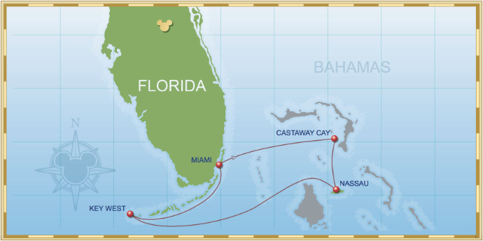 4 Night Bahamian Cruise On Disney Magic Itinerary A
