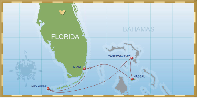 4 Night Bahamian Cruise On Disney Magic Itinerary D