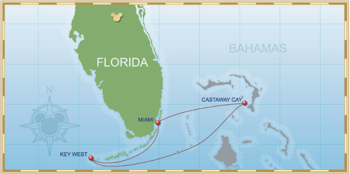 4 Night Bahamian Cruise On Disney Magic Itinerary E