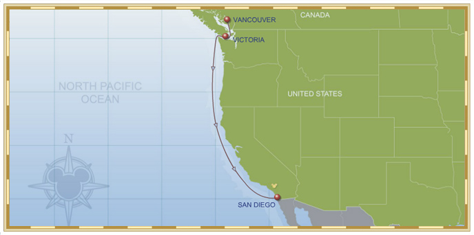 4 Night Vancouver To San Diego Cruise Disney Wonder