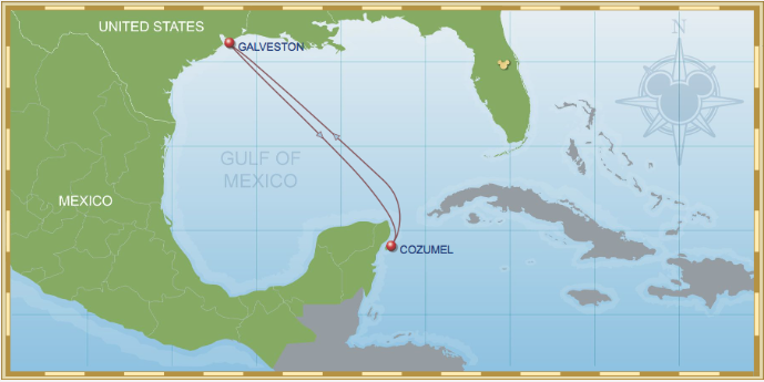 4 Night Western Caribbean Cruise On Disney Wonder Itinerary A