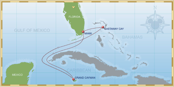 5 Night Western Caribbean Cruise On Disney Magic Itinerary B