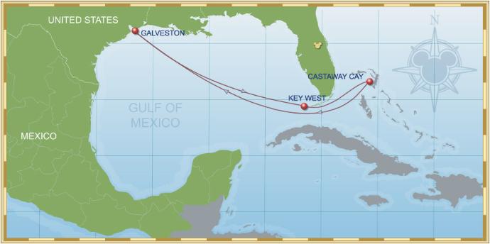 6 Night Bahamian Cruise On Disney Wonder Itinerary A