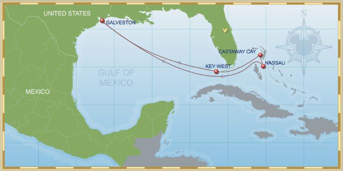 7 Night Bahamian Cruise On Disney Wonder Itinerary A