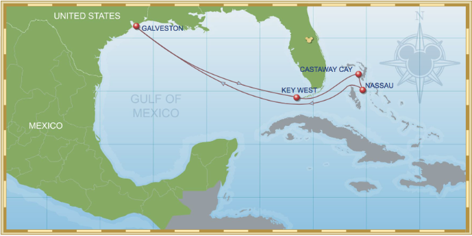 7 Night Bahamian Cruise On Disney Wonder Itinerary B