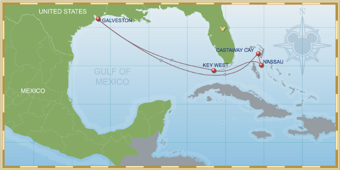 7 Night Bahamian Cruise On Disney Wonder Itinerary C