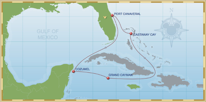 7 Night Western Caribbean Cruise On Disney Fantasy Itinerary A