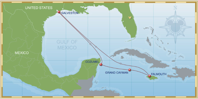 7 Night Western Caribbean Cruise On Disney Wonder Itinerary A