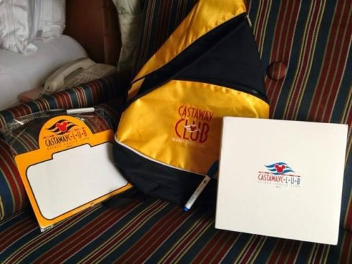 DCL Castaway Club Gold Backpack 2014