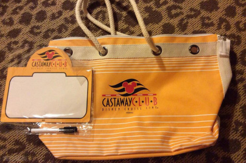 DCL Gold Castaway Club 2014 Gift Tote Contents