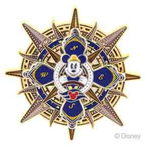 DCL Mickey Mouse Compass Pin