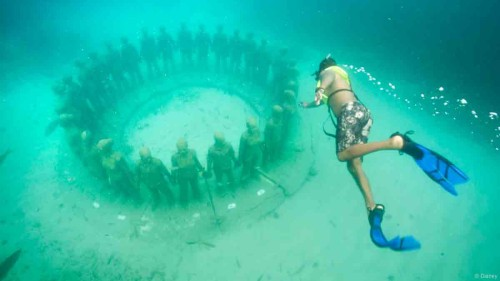 DCL St Georges Grenada Molinere Underwater Sculpture Park Southern Caribbean