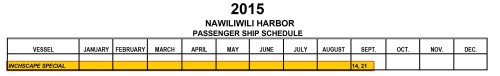 DCL Wonder Kauai Sept 2015 Port Schedule Inchcape Special