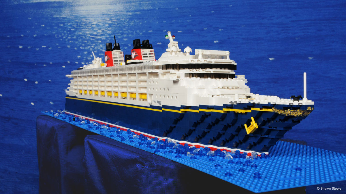 LEGO Ideas Replica Disney Wonder Cruise Ship Built During