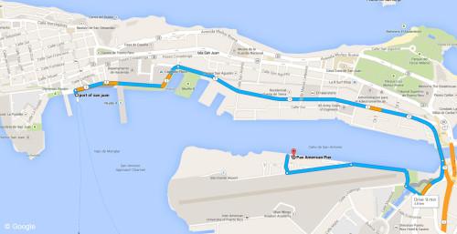 Port Old San Juan To Pan American Port Map Puerto Rico