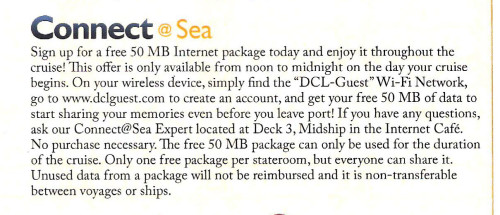 Connect At Sea Free 50mb Promotion Navigator