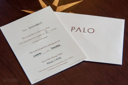 Palo Reservation Card Disney Fantasy